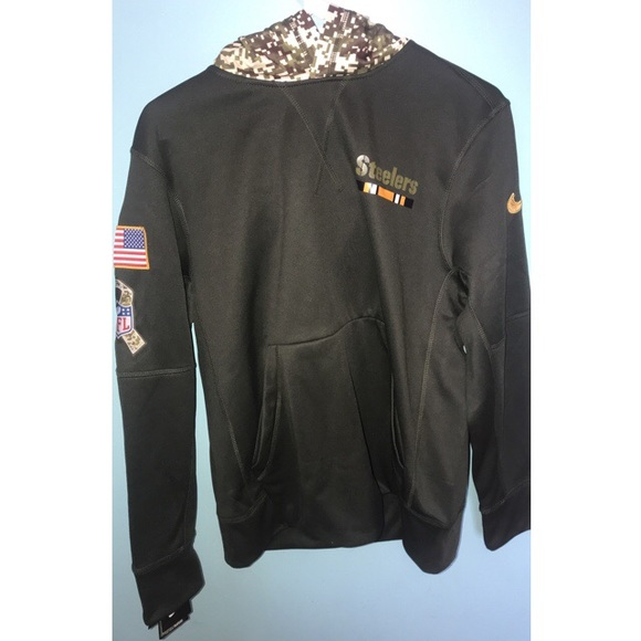 first rate 0f06b 8e381 Pittsburg Steelers Salute to Service Hoodie NWT